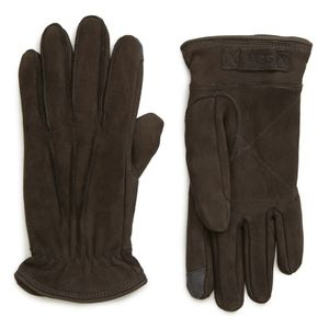 Ugg three-point leather tech gloves Charcoal color